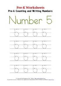 writing number 5 worksheet pre k worksheets org