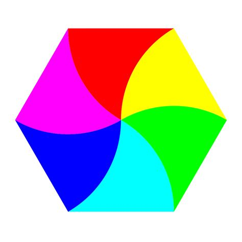 Vector Clip Of A Set Of Different Colored Hexagon Vector Clipart Best