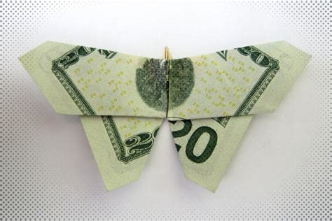 Butterfly Dollar Bill Origami - dollar bill origami butterfly paper craft