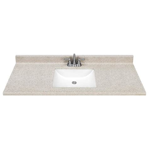 Solid Surface Vanity Top With Sink by Shop Style Selections Dune Solid Surface Integral Single