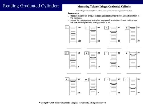 Reading Volume Worksheet by Reading A Graduated Cylinder Worksheet Worksheets
