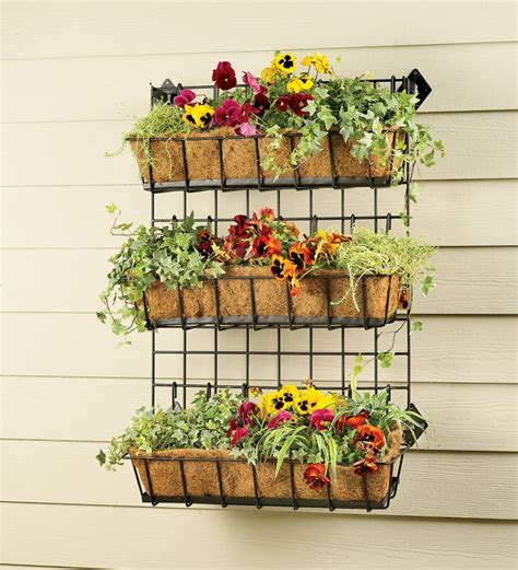 wall herb planter metal 3 tier wall planter for herbs