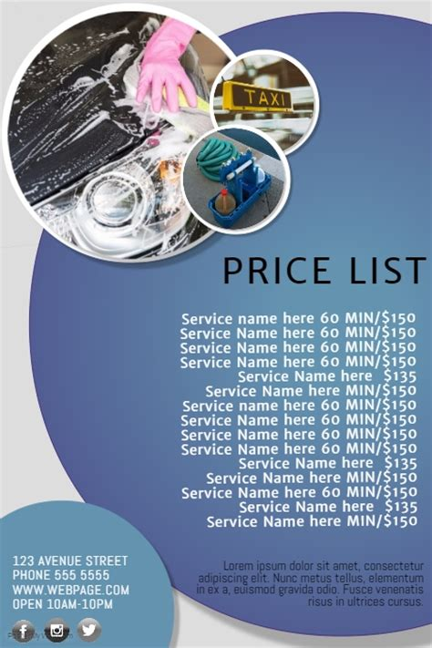Multipurpose Business Price List Template Postermywall Price List Flyer Template