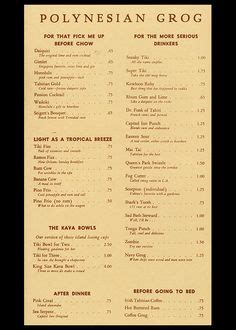 menu for cocktail for 50 cocktail menu from monkey room sillman hotel spokane