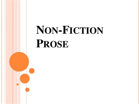 prose the of nonfiction books literature non fiction prose