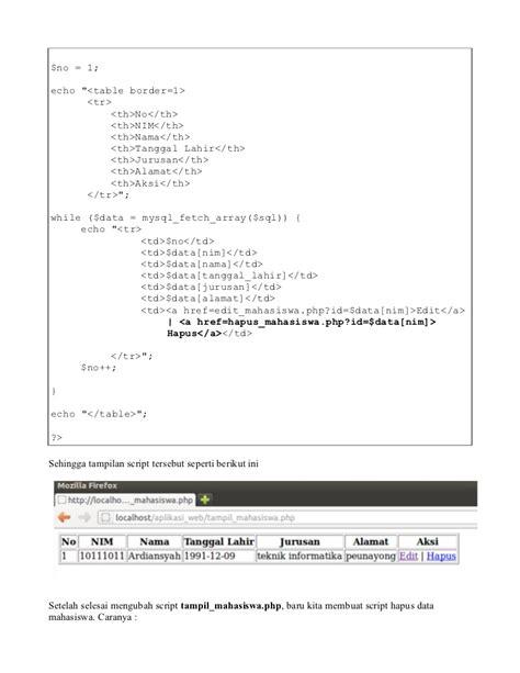 cara membuat aplikasi web sederhana aplikasi web sederhana