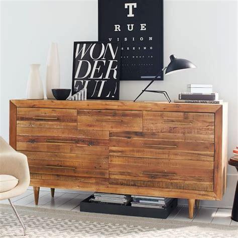 alexa reclaimed wood 5 drawer dresser alexa reclaimed wood 7 drawer dresser honey west elm
