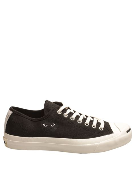 Jual Converse Purcell Black comme des gar 231 ons mens play purcell converse black with black in black for lyst