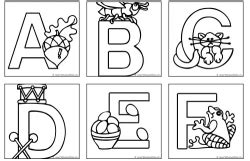 single alphabet coloring pages free for kids may 2012