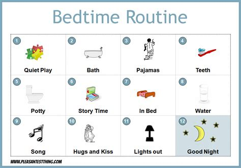 printable toddler bedtime routine chart positive routines with faded bedtime waterwipes au