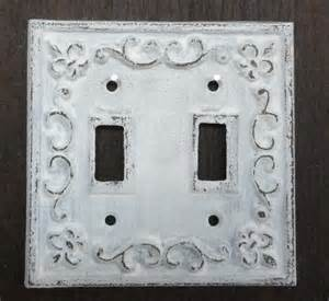 shabby chic light switch plates cast iron light switch plate shabby cottage fleur