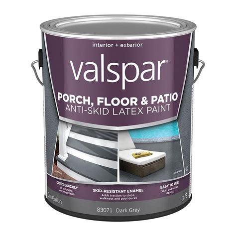 shop valspar anti skid porch and floor gray satin interior exterior paint actual net