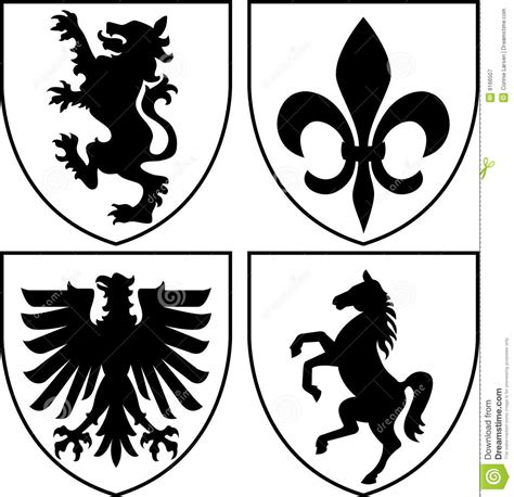 design royalty meaning heraldic crests coat of arms eps royalty free stock
