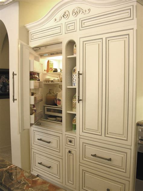 Refrigerator Cabinet by Outdoor Refrigerator Cabinet Kitchen Traditional With