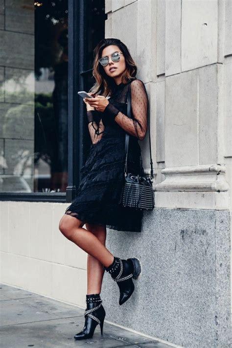 Robe Femme Rock Chic - 1001 id 233 es pour une tenue avec bottines chic et