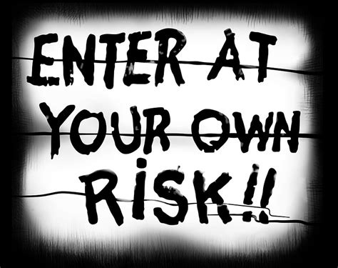 Design Own Wall Sticker quot enter at your own risk sticker quot stickers by