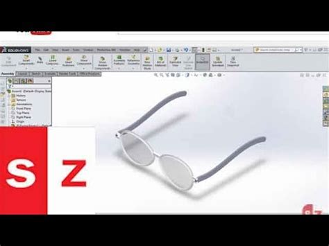 solidworks tutorial glasses solidworks sunglasses tutorial 2014 youtube