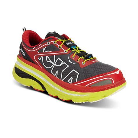 hoka road running shoes buy hoka bondi 3 mens running shoes in citrus white