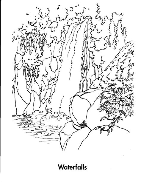 waterfall coloring pages animals coloring pages coloring pages for kids