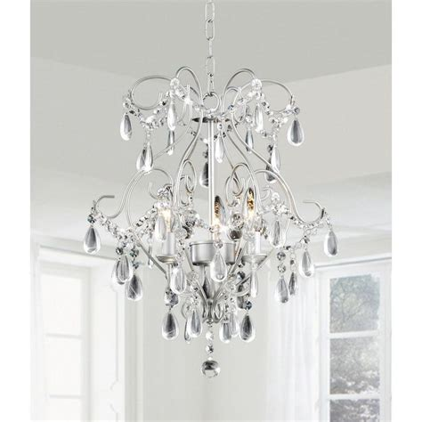 Silver Dining Room Chandeliers Elisa 3 Light Spray Paint Silver Chandelier By The