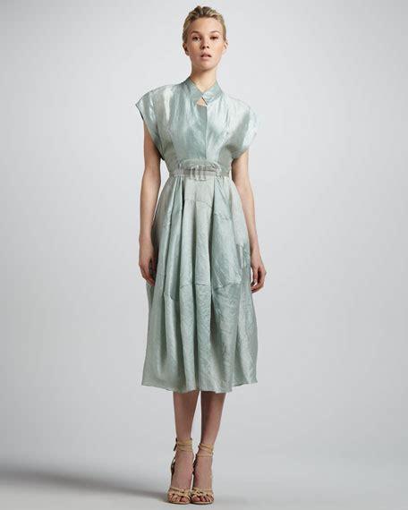 donna glass dress donna karan sea glass belted silk dress