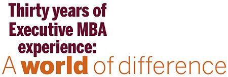Best Executive Mba Schools In The World by Thirty Years Of Executive Mba Experience A World Of