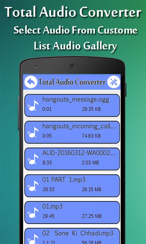 audio converter for android total audio converter free android app android freeware
