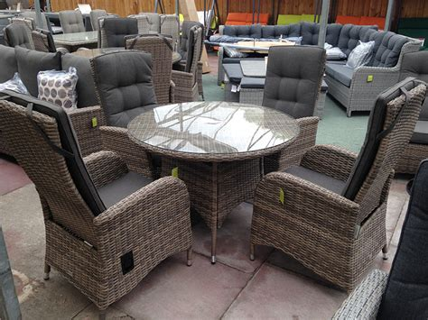 reclining garden chairs sale cappuccino rattan dining set reclining chairs