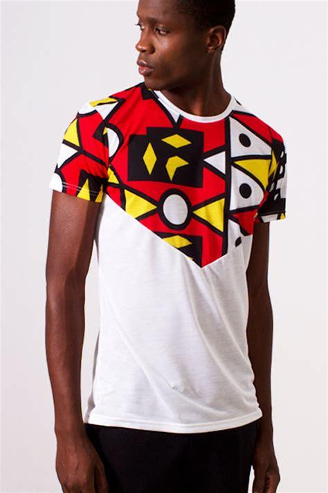 african pattern t shirt white v design t shirt with african print samakaka print