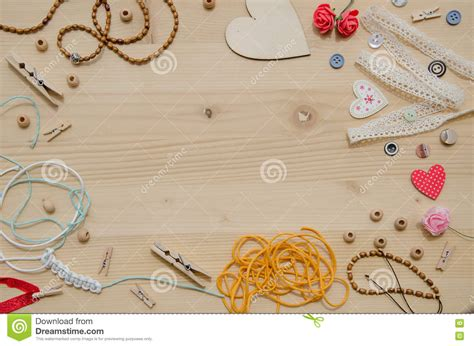 Handmade Handicraft Items - set of elements for handicraft and decorative items for
