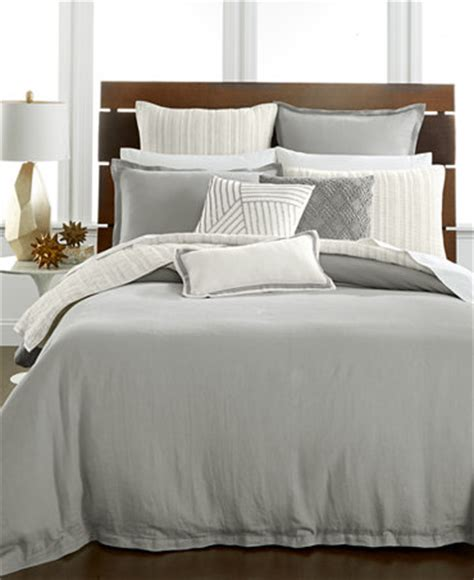 macy s bed linens hotel collection linen fog duvet covers only at macy s