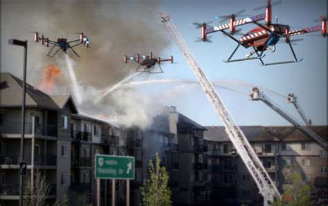 fire fighting drone one man drone media