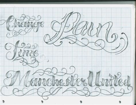 tattoo letter fonts lettering script popular designs
