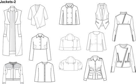 jacket design sketch fashion flat sketches for jackets prestigeprodesign com