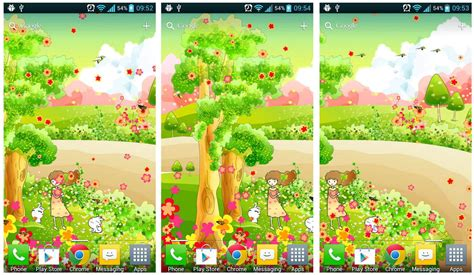 live wallpaper cartoon apk cartoon spring live wallpaper 1 0 1 free apk download for