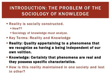 Reality Of Social Construction the social construction of reality berger