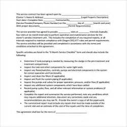 Basic Service Agreement Template by Sle Basic Contract Template 15 Free Documents In Pdf