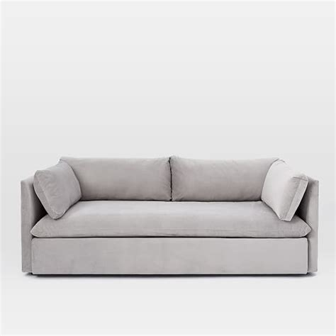 west elm shelter sleeper sofa shelter sofa 84 quot west elm