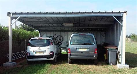 Construire Un Carport Pour Cing Car by Abri Pour Voiture Interesting Garage Box Abri Adossable