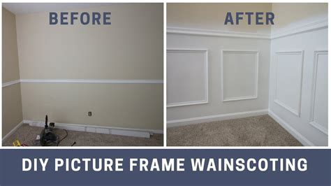 Wainscoting Buy by How To Install Picture Frame Style Wainscoting