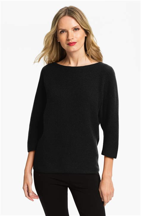 Sweater We Black nordstrom collection dolman sleeve sweater in black lyst