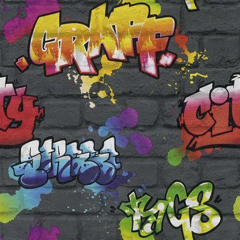 graffiti wallpaper amazon graffiti wallpaper white black brick as creation