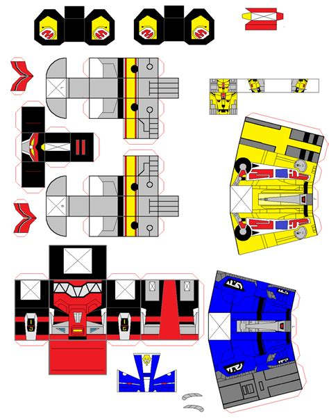 Papercraft Power Rangers - hako megazord by arkbotg2 on deviantart