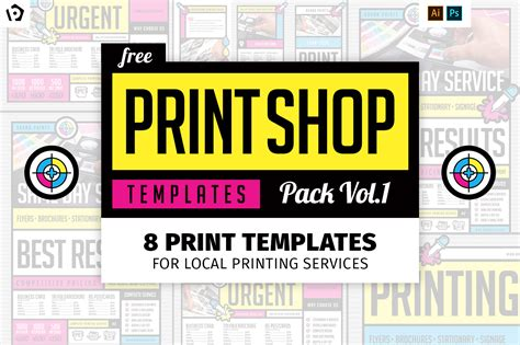 print shop template free print shop templates for local printing services