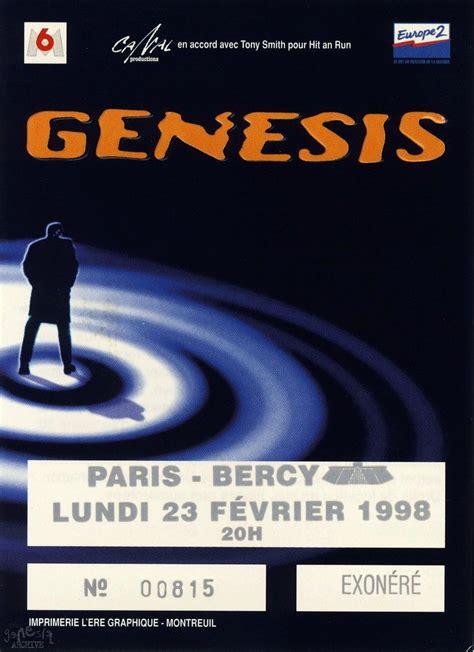 genesis tickets genesis ticket bercy 23rd february the