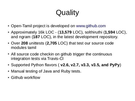 github tamil tutorial open tamil infitt 2016 v3