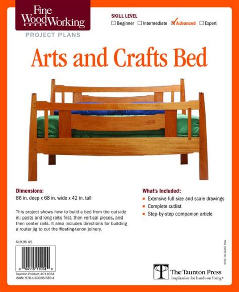 arts and crafts woodworking woodworking s arts and crafts bed plan by editors of