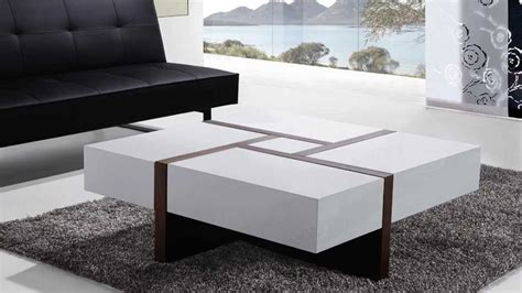 tisch perth cafe beliani coffee table 4 drawers 100 x 100 cm white