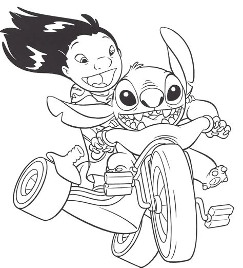 Disney Stitch Coloring Pages