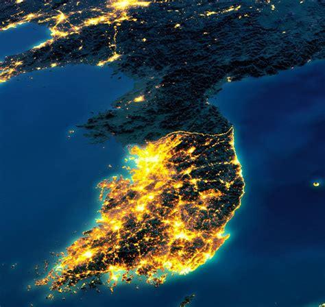 Korea Light lights of korea mapmania korea and